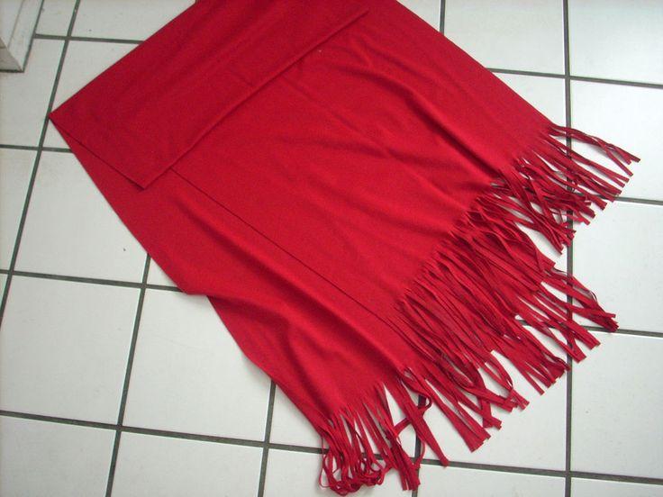 BEAUTIFUL WEEKENDERS RED Fringed Scarf - 71 INCHES LONG #Weekenders #Scarf #All