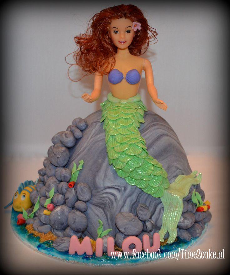 Ariël de kleine zeemeermin taart