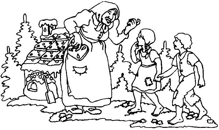 Haensel und Gretel   Ausmalbilder zum ausdrucken kostenlos ...