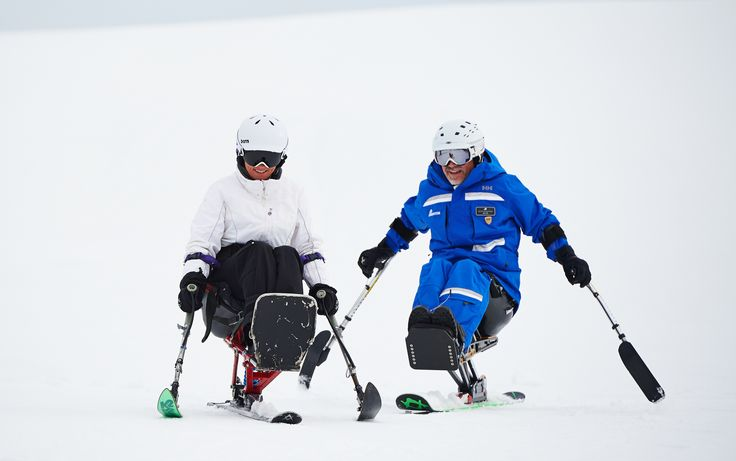 Adaptive Skiing gives people with minimal or no leg use the ability to do a winter sport. They sit on the ski and use two poles to help them stabilize themselves and turn. It gives people the ability to compete in skiing in a recreational setting or a competitive setting