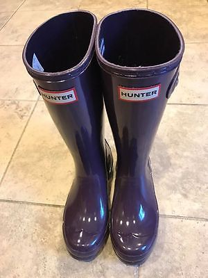 Girls Shoes 57974: Girls Hunter Boots New Dark Purple Size 1Uk 2Us -> BUY IT NOW ONLY: $48 on eBay!