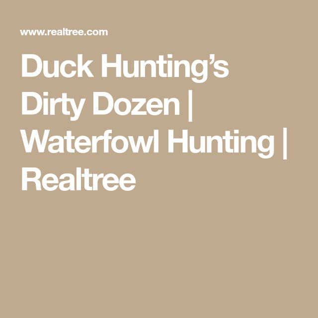 Duck Hunting's Dirty Dozen | Waterfowl Hunting | Realtree