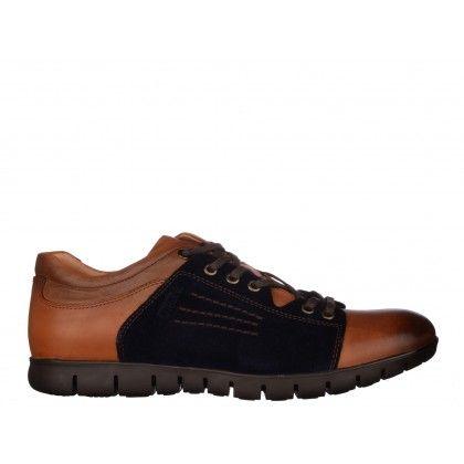 Pantofi casual OTTER maro, din piele naturala