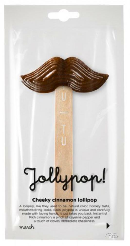 TUTU Lithuanian lollipop. Sweet and natural way! #lollipop #mustache #packaging