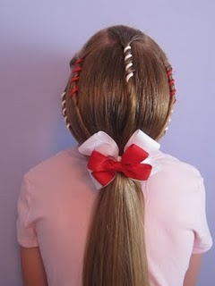 diy young girl hairstyle with colors!
