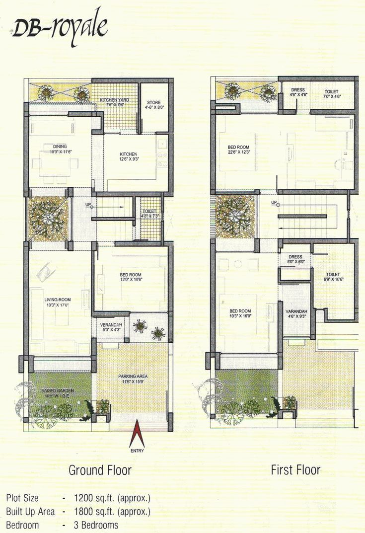Free Duplex House Design: Layout Design For 800 Sq Ft House