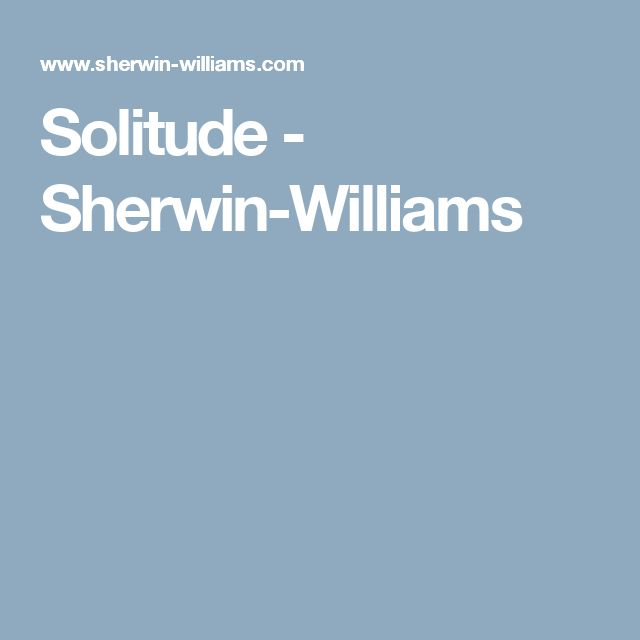 Solitude - Sherwin-Williams