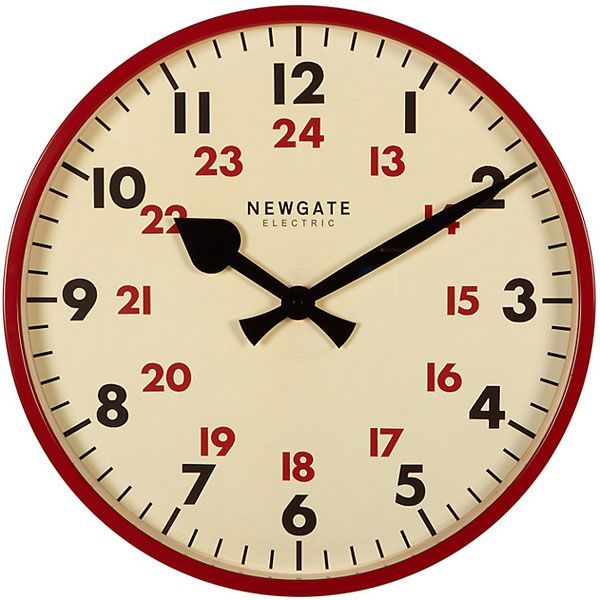 Newgate Putney Clock - Gloss Red