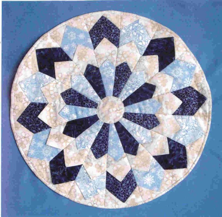 Dresden Plate Quilt Block- This is the original pinner's mum's pattern!!!! www.kaysquilts.com