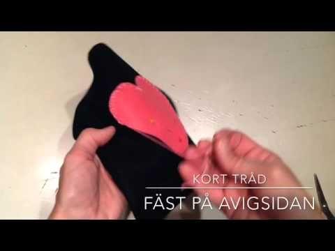 (4) Sy fast applikation med langett - YouTube