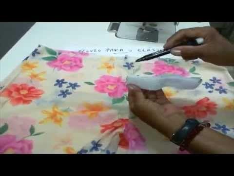 Colocando elástico franzido homogêneo na cintura - YouTube