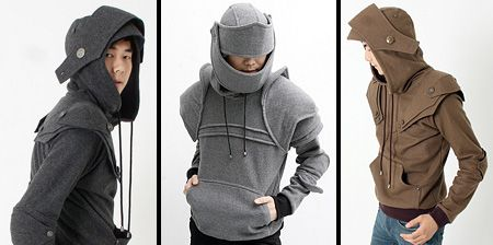 Coolest. Sweaters. Ever. Totally going to make myself an armor sweater if I can't find out where I can buy these!
