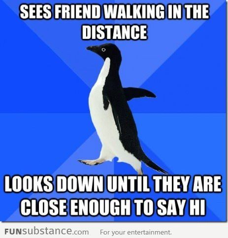 Oh GOD this is always so awkward! Does anybody have another way of coping with the situation other than THAT? LOL.