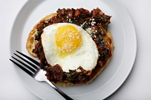 Cooking for One: Egg in Hearty Puttanesca, The Washington Post, April 25, 2012