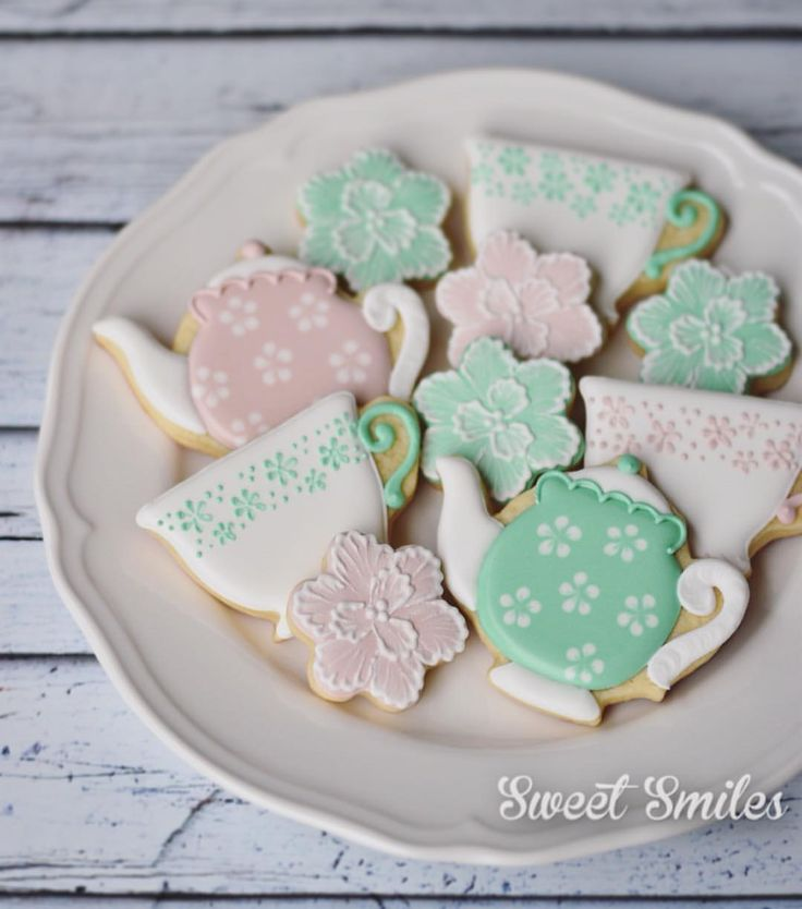 Time for tea! Decorated Cookies.