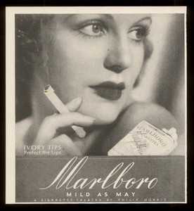 vintage photography of Women | 1936 Smoking Woman Photo Marlboro Cigarettes Vintage Print Ad 2 | eBay