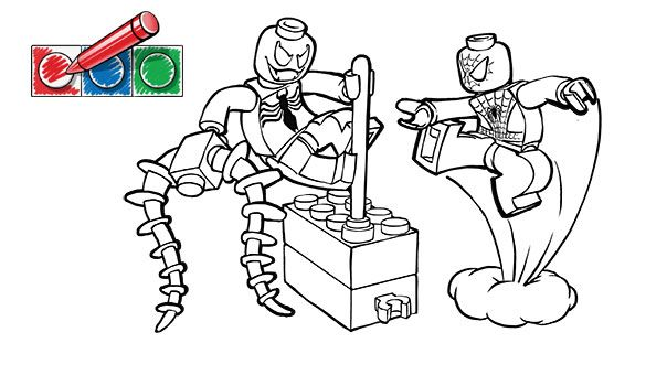 LEGOcom Juniors Downloads Coloring pages Spiderman 1 Owens