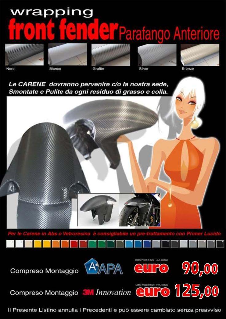 wrapping moto roma: PARAFANGO ANTERIORE