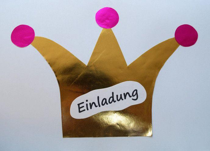 Einladungskarten Prinzessin - Kinderspiele-Welt.de