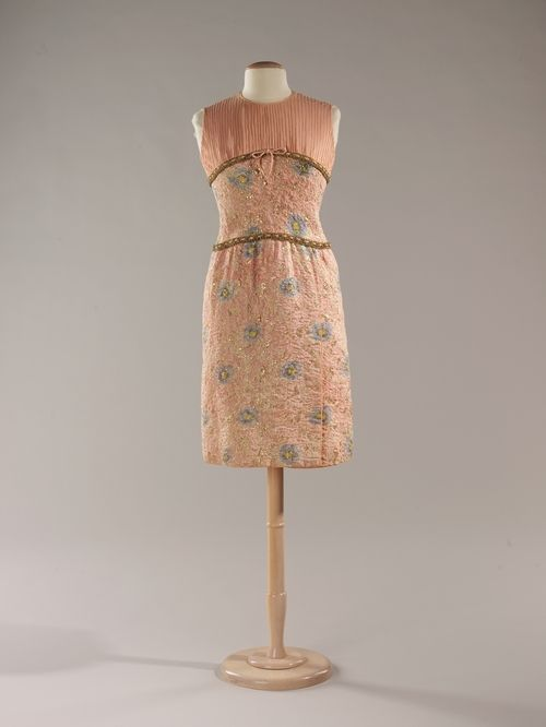 A prim Chanel dinner suit, 1964.
