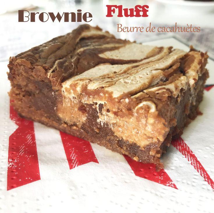 Batonnets Au Chocolat Et Aux Cacahuètes: Brownie Chocolat, Fluff Et Beurre De Cacahuètes