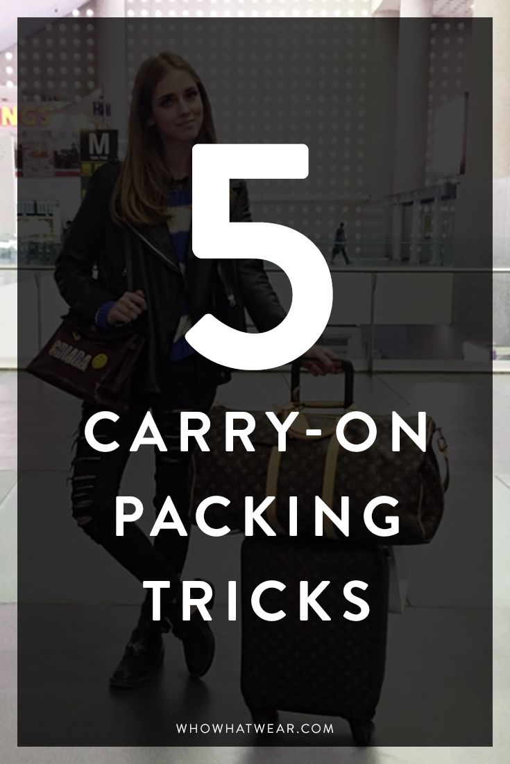 5 tips for packing a carry-on luggage