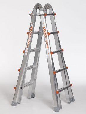 WAKÜ Leiter Teleskopleiter Treppenleiter 102 4x5 Sprossen - 00102
