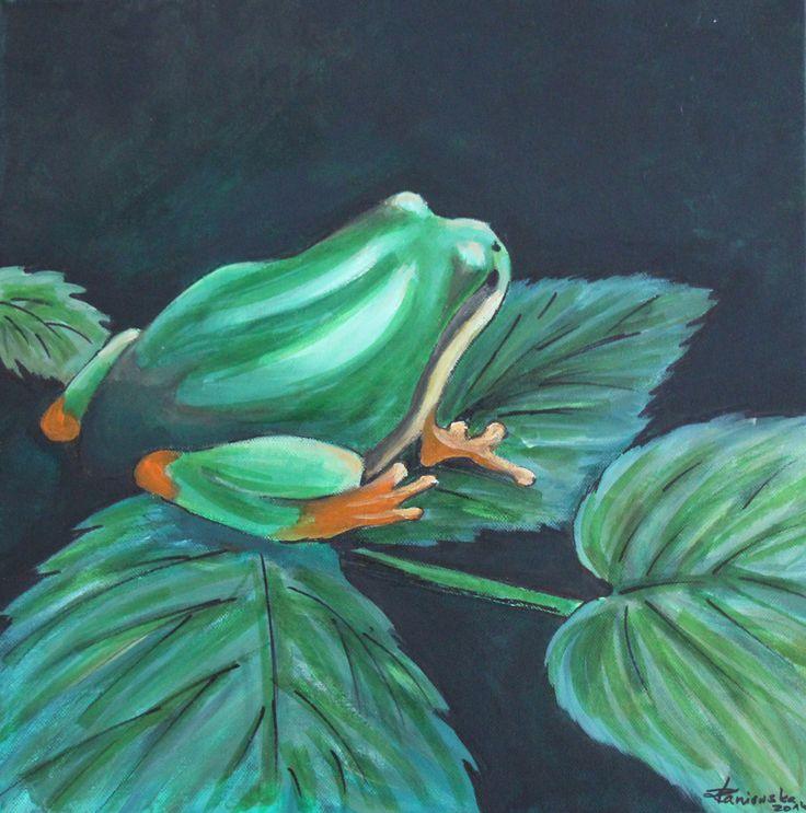 Żaba ( 40x40 , Akryl)