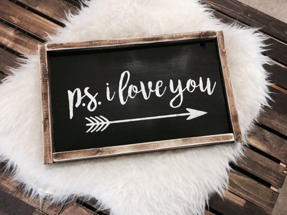 PS I Love You Sign / PS I Love You / Valentines Day Sign /