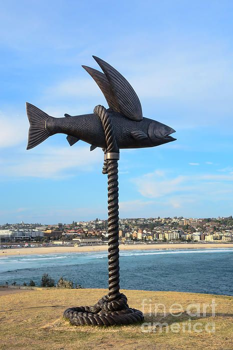 #SCULPTURE BY THE #SEA - #FLYING #FISH - #Photograph by #Kaye #Menner #Photography Prints + at: http://kaye-menner.pixels.com/featured/sculpture-by-the-sea-flying-fish-photograph-by-kaye-menner-kaye-menner.html