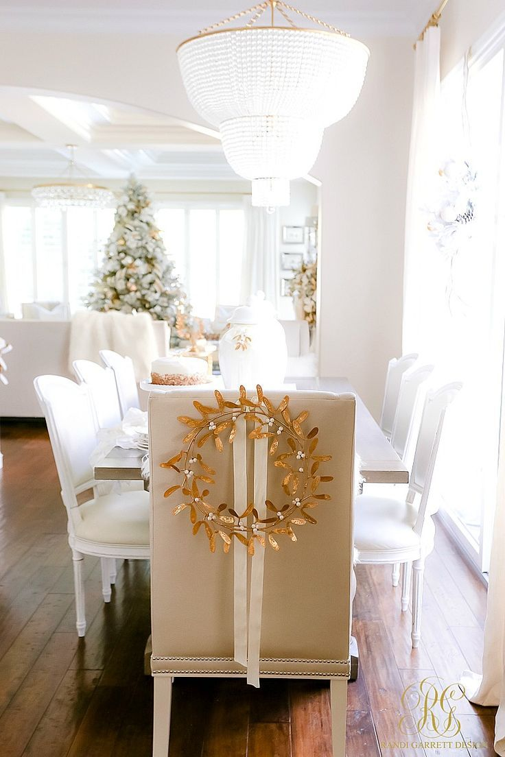 White And Gold Christmas Kitchen Holiday Dining Room Christmas Kitchen Decor