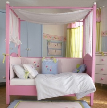 canopy bed against the - photo #13