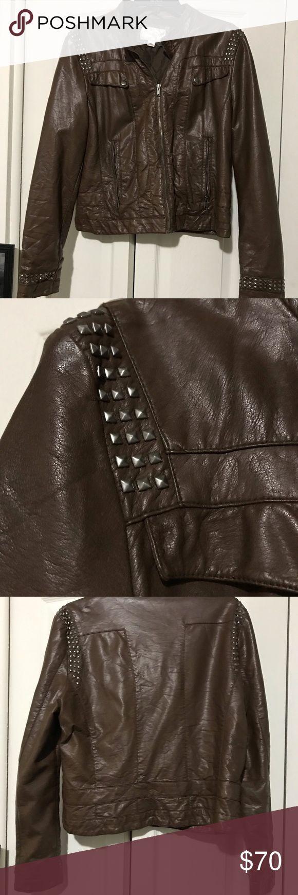 Edgy 90s Pleather Jacket Pleather jacket, Fashion