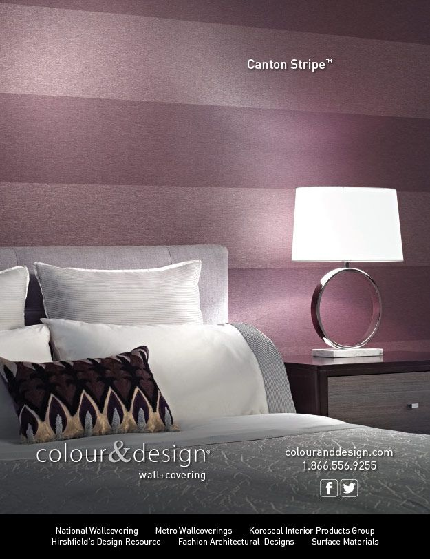 And For Colour Designs Canton StripeTM In The December 2014 Issue Of Interior Design Magazine Bcreative