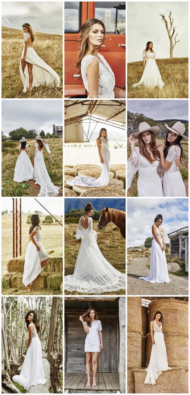 Romantic Country Wedding Dresses - WEDDING DRESSES  Romantic Country Wedding Dresses Introducing their newest collection of wedding gowns created for the chic and charming cowgirl in you, Grace Loves Lace brings us a selection of eleven new gorgeous gowns.