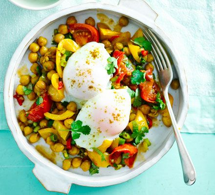 This quick, fibre-rich veggie supper is filling and good for you too.Chickpeas are a great source of manganese, which is essential for healthy bone structure