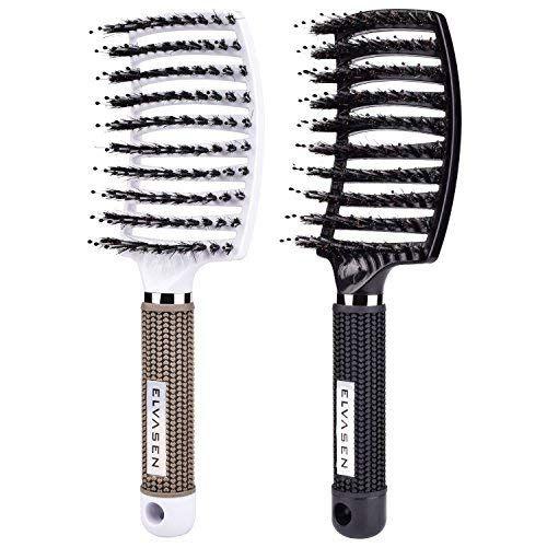 Boar Bristle Hair Brush, Natural Hair Brush Vent Hair Brush for Long, Thick, Thin, Curly