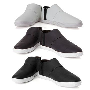 Mens Casual Business Flats Ankle Fashion Leather Shoes