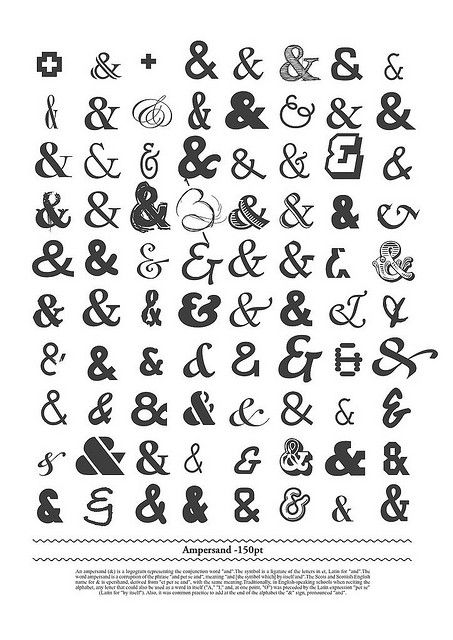 I think it would be cool to get a tattoo wrapping around my leg with ampersands