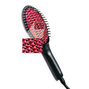 Tmei Brosse Lissante Lisseur Chauffante Ceramique Peigne Defriser Electrique avec Ecran LCD Professionnel Cheveux Long Court Lissage