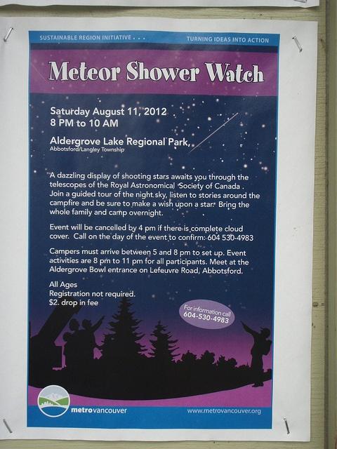 Meteor Shower Watch - August 11, 2012