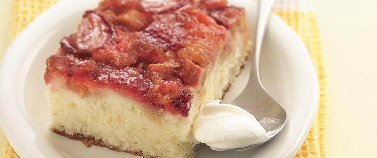 Weeknight easy! Here's a fresh fruit dessert made with cake mix that you can serve warm.
