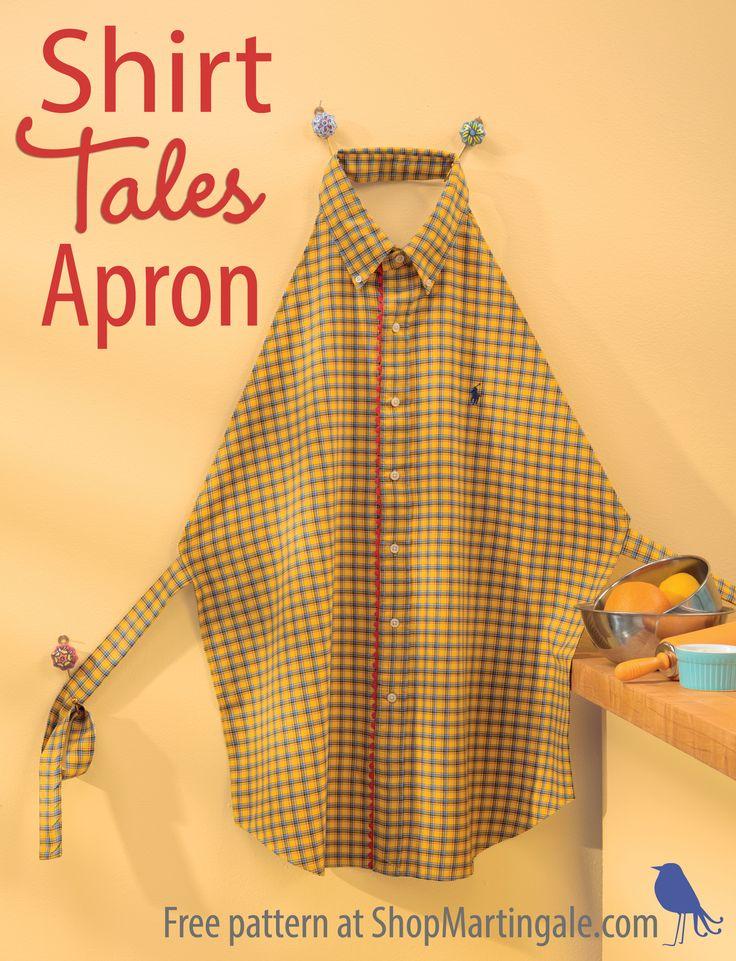 Shirt Tales apron free pattern