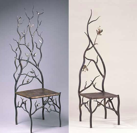 Such cool chairs. i want these so bad! i have a thing for trees and birds... anyone know where these came from?