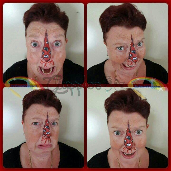 Hellup. Er komen horror Gappies uit mijn neus. #horror #gappies #gappie #halloween #grappig #Amsterdam #schminkkoppies