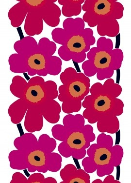 Fond memories.. fabric by Marimekko... I am a 70s child Mum decorated my room in this when v young.