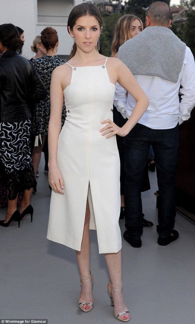 Anna Kendrick in a Misha Nonoo dress at Glamour magazine's Success Issue soiree as she...