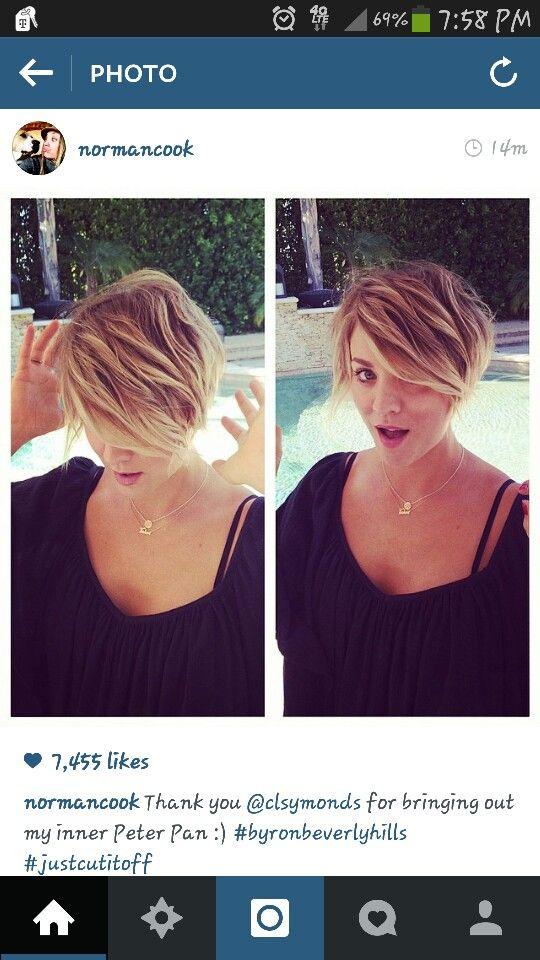 Kaley Cuoco short hair