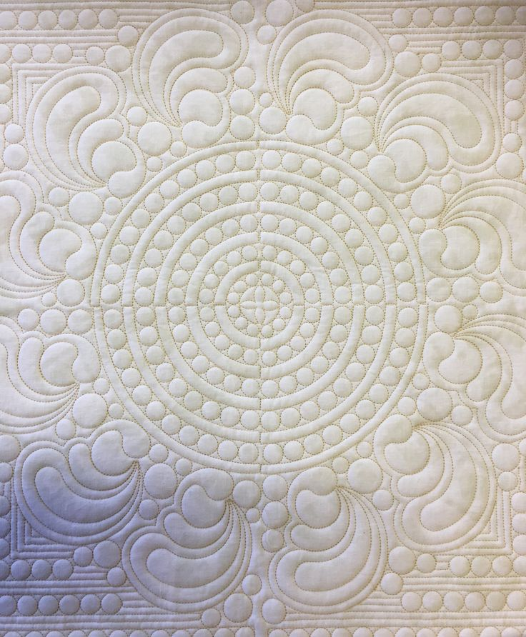 Circles of pearls quilting design