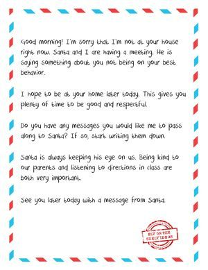 Letter From Elf to Naughty Kid - Free Printable. When your ...